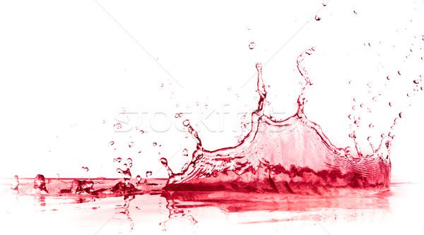 red wine splash Stock photo © kubais