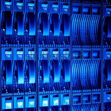 центр обработки данных интернет технологий сеть синий Сток-фото © kubais