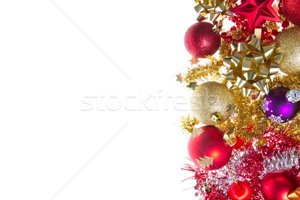 christmas balls and tinsel Stock photo © kubais
