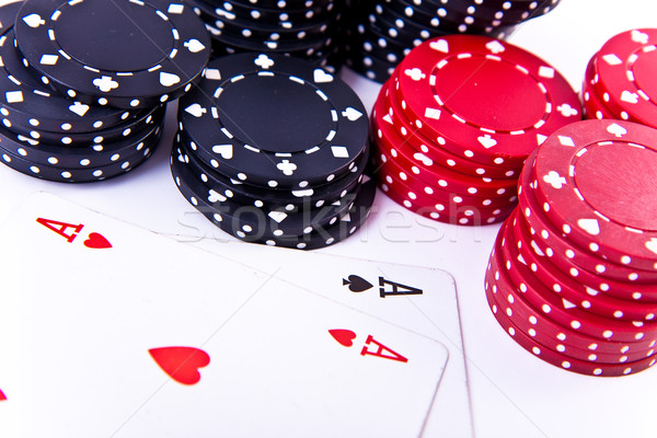 playing cards and poker chips Stock photo © kubais