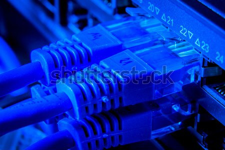 network hub and patch cables Stock photo © kubais