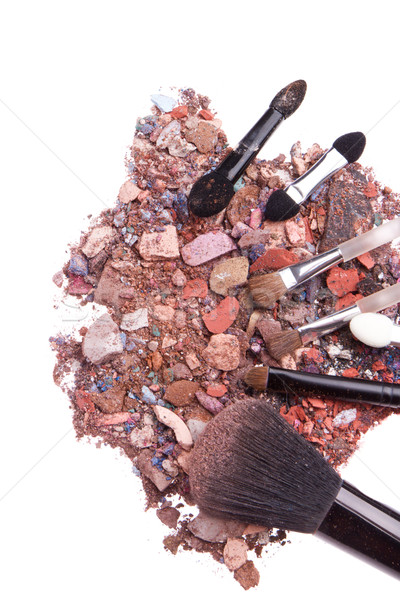 Establecer aislado blanco textura ojo cara Foto stock © kubais