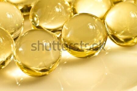 Óleo cápsulas vitamina fundo grupo Foto stock © kubais