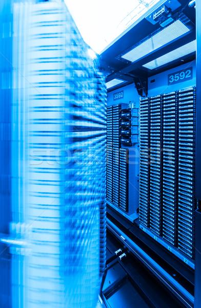 Rechenzentrum Lagerung Internet Zimmer Technologie Tür Stock foto © kubais