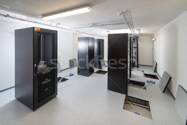 Szerver szoba adatközpont biztonság hálózat kommunikáció Stock fotó © kubais