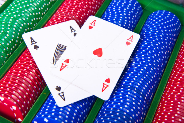 poker chips with ace Stock photo © kubais