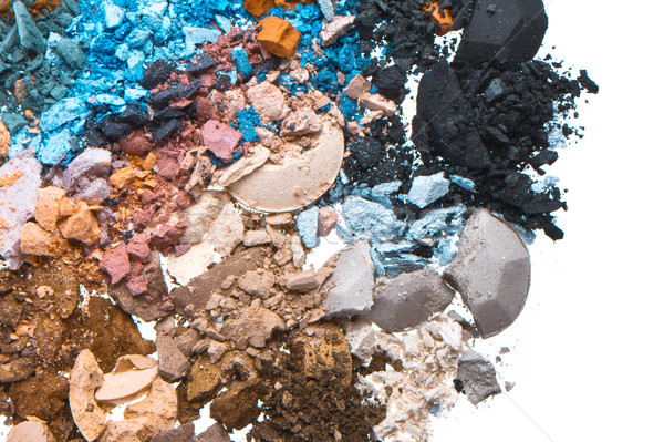 set of multicolor crushed eyeshadows Stock photo © kubais