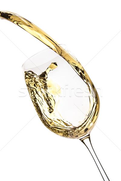 Vin blanc Splash isolé blanche résumé boire Photo stock © kubais