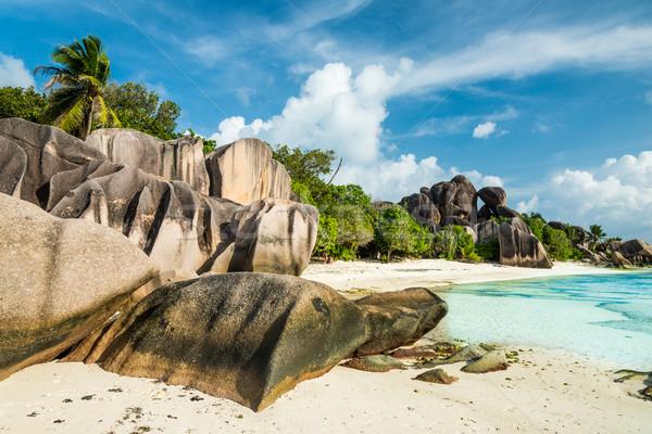 Сток-фото: пляж · Гранит · бирюзовый · морем · воды · лист