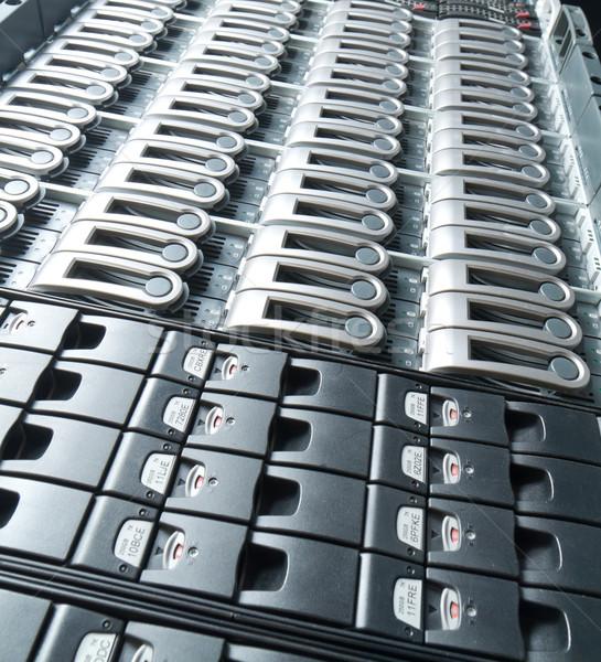 Adatközpont részlet üzlet internet biztonság kommunikáció Stock fotó © kubais