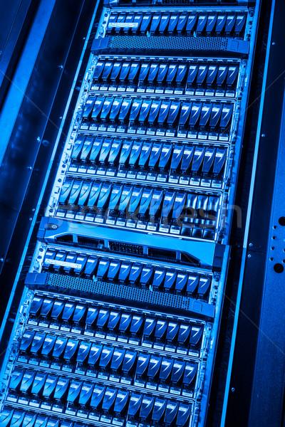 Rechenzentrum Internet Technologie Netzwerk blau Service Stock foto © kubais