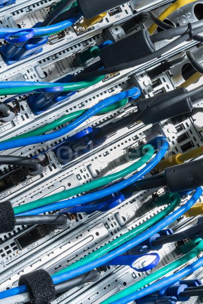 データセンター クローズアップ ハードウェア リア サイド ストレージ ストックフォト © kubais