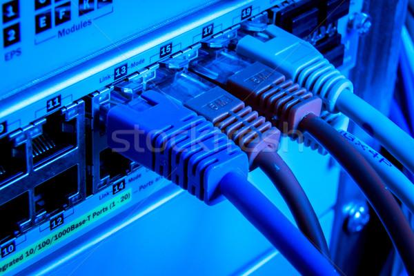 Netwerk kabels technologie kabel communicatie Stockfoto © kubais