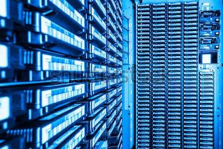 Veri merkezi depolama Internet oda teknoloji kapı Stok fotoğraf © kubais