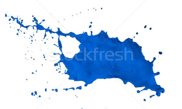 Festék csobbanás kék izolált fehér háttér Stock fotó © kubais