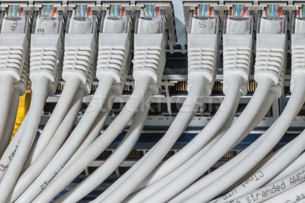 Rete cavi switch primo piano data center hardware Foto d'archivio © kubais