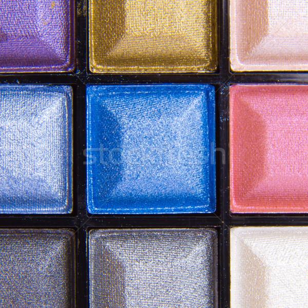 Coloré compact fard à paupières palette corps Photo stock © kubais