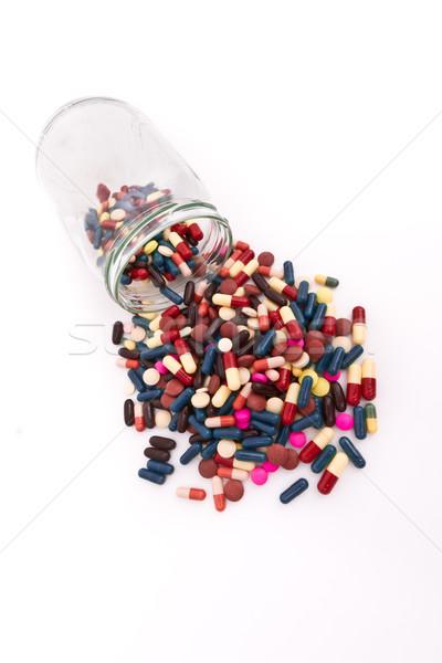 Kapszulák színes üveg konténer orvosi háttér Stock fotó © kubais