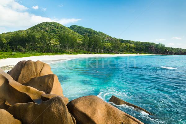 тропические бирюзовый морем Гранит небе воды Сток-фото © kubais