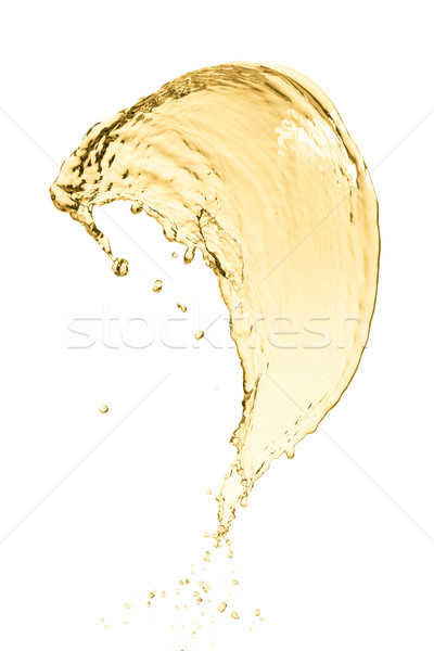 Sıçrama beyaz şarap yalıtılmış beyaz parti soyut Stok fotoğraf © kubais