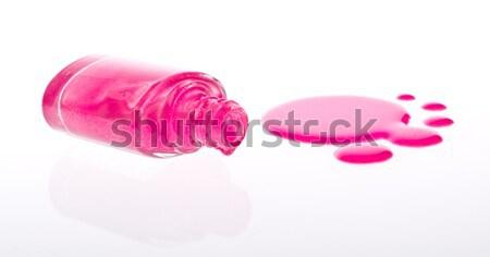 Nagellak witte vrouwen mode achtergrond fles Stockfoto © kubais