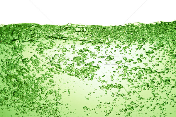 Nyár ital zöld üdítő buborékok víz Stock fotó © kubais
