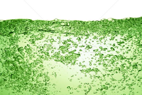 Verano beber verde sosa burbujas agua Foto stock © kubais