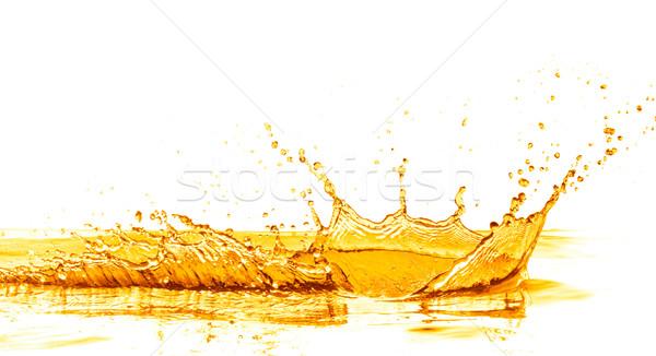 Sinaasappelsap splash geïsoleerd witte voedsel vruchten Stockfoto © kubais