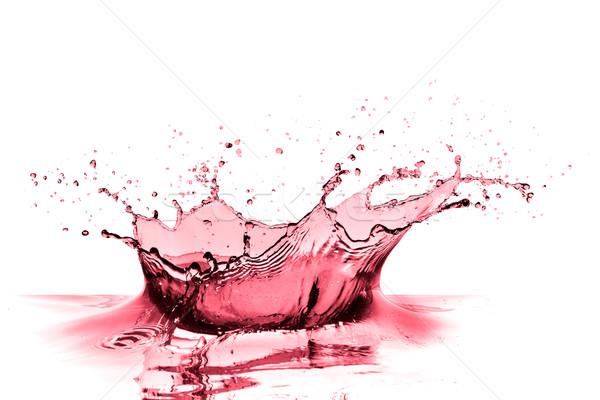 Vinho tinto salpico isolado branco vinho abstrato Foto stock © kubais