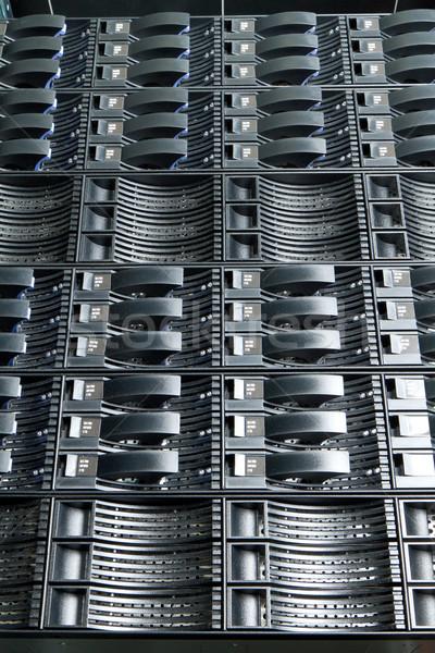 Veri merkezi detay bilgisayar Sunucu güvenlik bilgi Stok fotoğraf © kubais