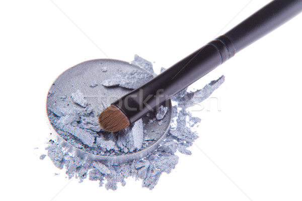 Fard à paupières brosse isolé blanche mode noir Photo stock © kubais