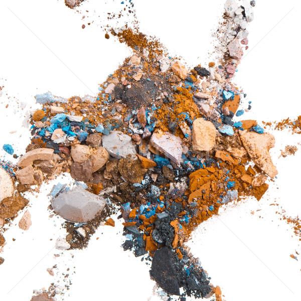 Mixte isolé blanche texture oeil visage Photo stock © kubais