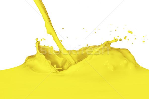 Pintura amarillo aislado blanco resumen Foto stock © kubais