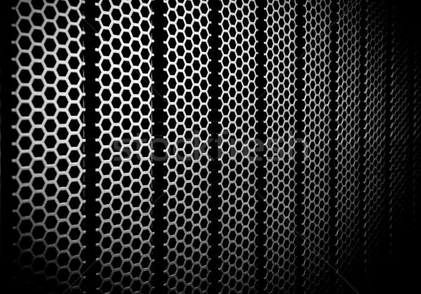 抽象的な メタリック グリッド 金属 コンピュータ 技術 ストックフォト © kubais