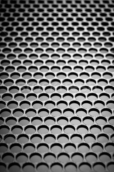 Abstract metallico griglia metal computer tecnologia Foto d'archivio © kubais