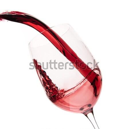 red wine glass Stock photo © kubais
