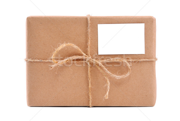 A parcel wrapped in brown paper Stock photo © kuligssen