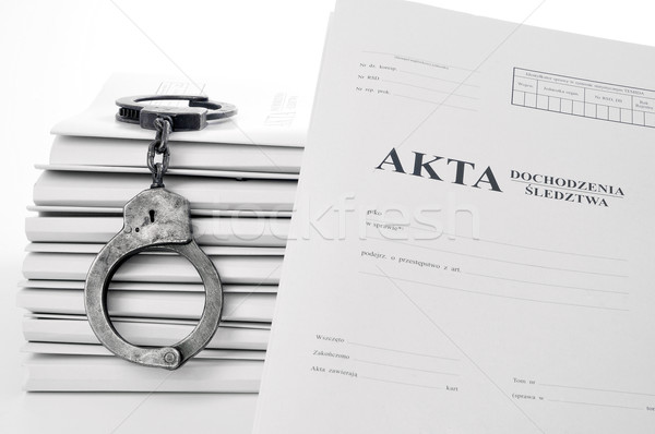 old metal handcuffs and case file Stock photo © kuligssen