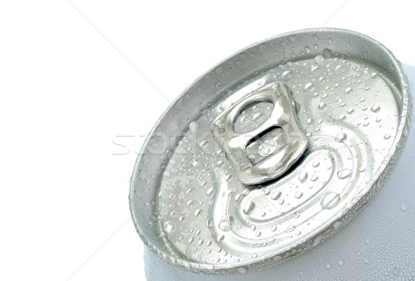 Bira can üst beyaz görmek Metal Stok fotoğraf © kuligssen
