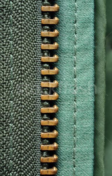 Yarım fermuar zeytin yeşil ceket moda Stok fotoğraf © kuligssen