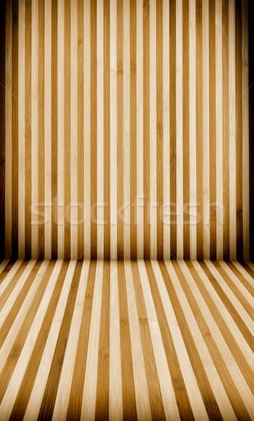 çizgili duvar ahşap zemin dikey Stok fotoğraf © kuligssen