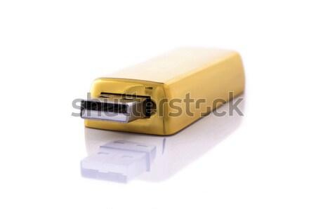 Złota flash drive jak bar komputera mail Zdjęcia stock © kuligssen