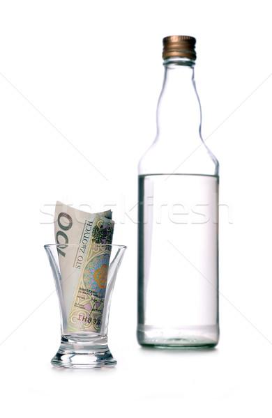 Bir yüz cam para kayıp alkol Stok fotoğraf © kuligssen