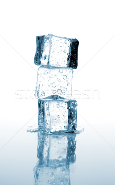 Three ice cubes stacked Stock photo © kuligssen