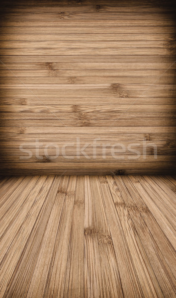 Wooden wall and floor background  Stock photo © kuligssen