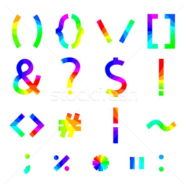 Rainbow alfabeto simboli piazza angoli segno Foto d'archivio © kup1984