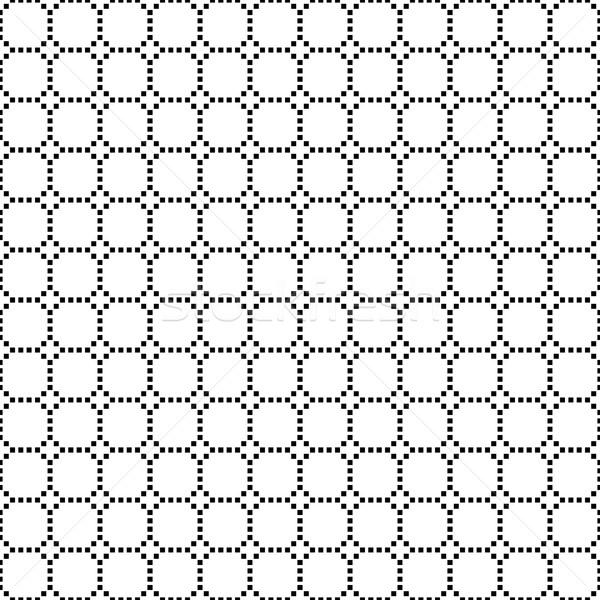 черно белые геометрический плитки диагональ Сток-фото © kup1984