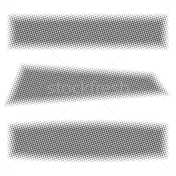 Gris web bannières en demi-teinte effet rectangulaire Photo stock © kup1984