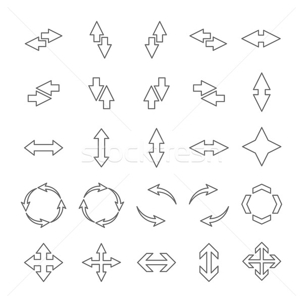 Set outline arrows, vector illustration. Stock photo © kup1984