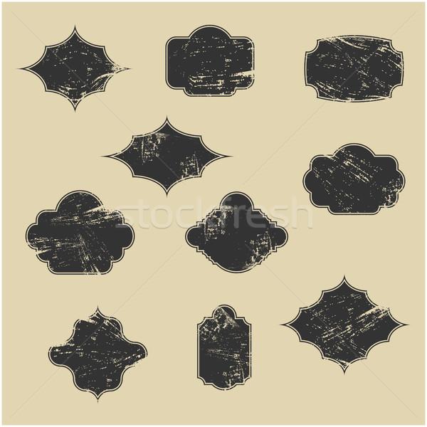 Vintage grunge marco establecer diferente textura Foto stock © kup1984
